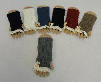 Knitted Hand Warmers [Antique Lace-2 Buttons]